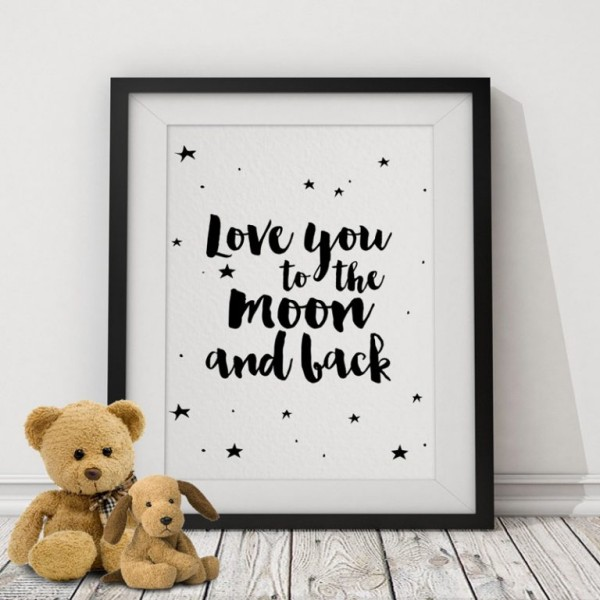 Print poster I LOVE YOU,30x21cm