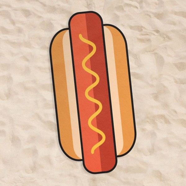 Brisača za plažo HOT DOG